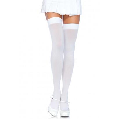 Leg Avenue Nylon Thigh Highs 6672 White
