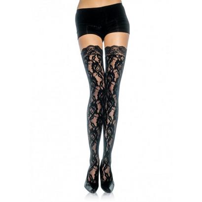 Leg Avenue Rose Lace Stockings 9762 - Hold-Ups