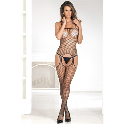 René Rofé Industrial Net Suspender body Black 7002B