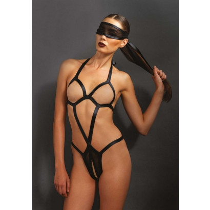 Leg Avenue Bondage Teddy & Eye Mask KI4006