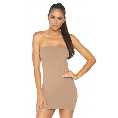 Leg Avenue Seamless Bodycon Tube Dress NK002 Tan