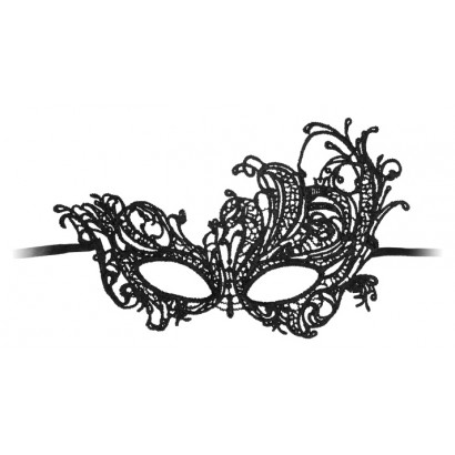 Ouch! Royal Black Lace Mask Black
