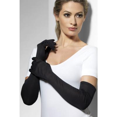 Fever Long Gloves 9363 - Dlhé rukavičky Čierna