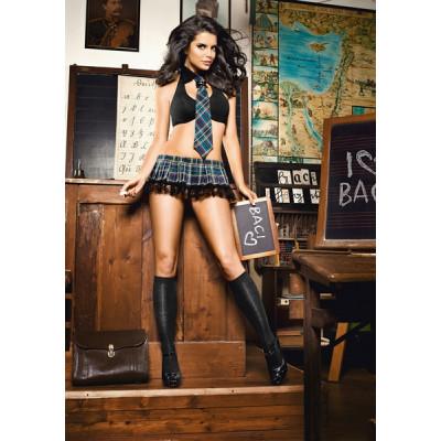 Baci Sexy Schoolgirl Set Čierna