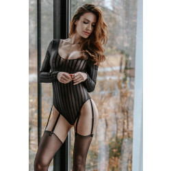 Petitenoir Tulle Body with 6 Suspenders 151518