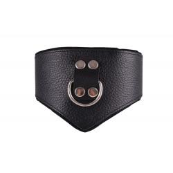 Dominate Me Leather V-Collar D41 Black-Black