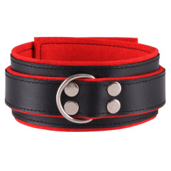 Dominate Me Leather Collar D31 Black-Red