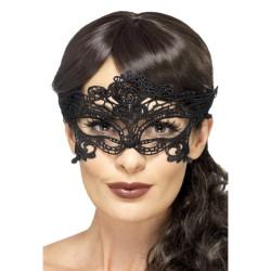 Fever Embroidered Lace Filigree Heart Eyemask 45628 - Maska na oči
