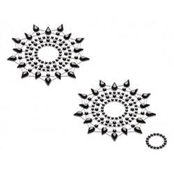 Petits JouJoux Crystal Sticker Breast Jewelry Set of 2 Black