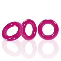 Oxballs WILLY RINGS 3-pack Cockrings Hot Pink