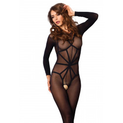 Leg Avenue Opaque Illusion Bodystocking 89151 Black