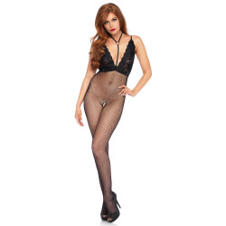 Leg Avenue Crotchless Bodystocking 89216 Black