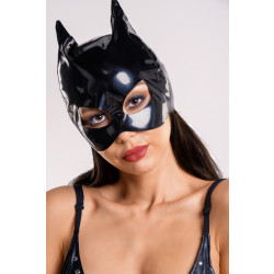 Glossy Wetlook Mask with Cat Ears