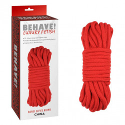Chisa Novelties Behave! Bing Love Rope Red