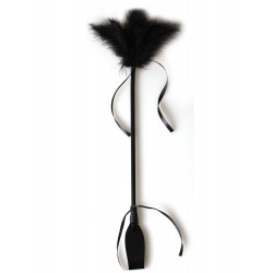 Secret Play Duster and Riding Crop Black