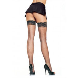 Leg Avenue Stay up Fishnet Stockings 9035- samodržiace pančuchy