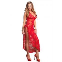Leg Avenue Long Dress With G-String 88009 Červená