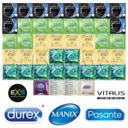 Luxusný Delay Mix Balíček - 44 kondómov pre dlhé milovanie