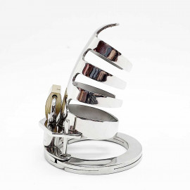 Black Label The Classic Stainless Steel Cock Cage Silver