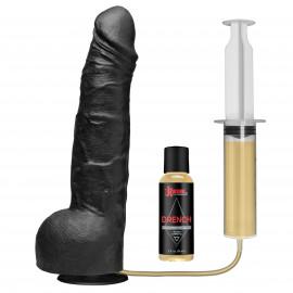 Doc Johnson Kink Drencher Silicone Squirting Cock Vac-U-Lock 10 Inch 25cm Black