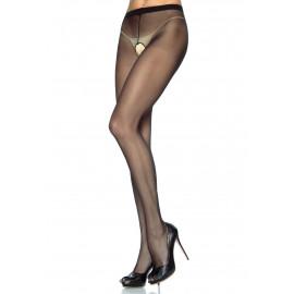 Leg Avenue Sheer Crotchless Pantyhose 1905 Čierna