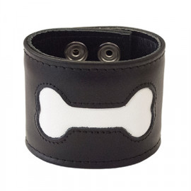 Mister B FETCH Bone Wristband Black-White