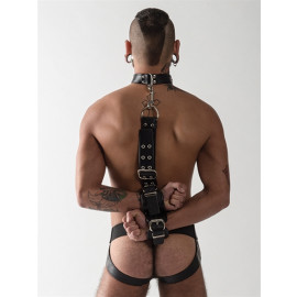 Mister B Leather Slave Collar With Restraints