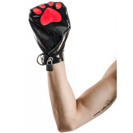 Mister B FETCH Rubber Puppy Mitts Black-Red