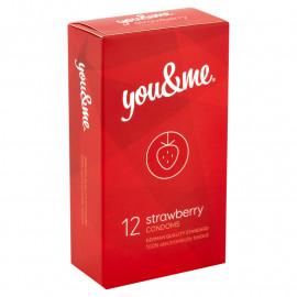 you&me Strawberry Condoms 12ks