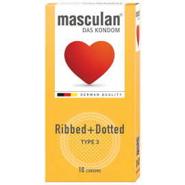 Masculan Ribbed & Dotted 10 pack