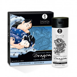 Shunga Dragon Cream Sensitive - Intensifying cream for couple 60ml