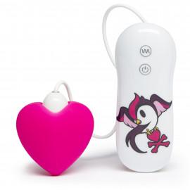 Tokidoki Silicone Pink Heart Clitoral Vibrator