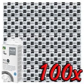Fair Squared XXL 64 Fair Trade Vegan Condoms 100 pack