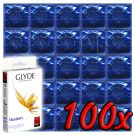 Glyde Blueberry - Premium Vegan Condoms 100 pack