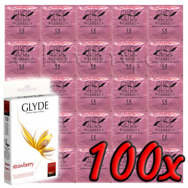 Glyde Strawberry - Premium Vegan Condoms 100 pack