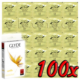 Glyde Vanilla - Premium Vegan Condoms 100 pack
