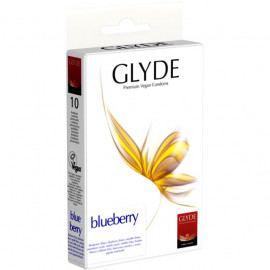 Glyde Blueberry - Premium Vegan Condoms 10 pack
