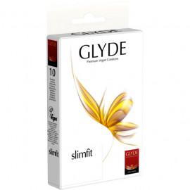 Glyde Slimfit - Premium Vegan Condoms 10 pack