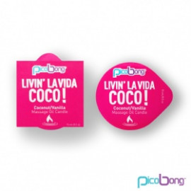 PicoBong Kokos & vanilka masážna sviečka 15 ml