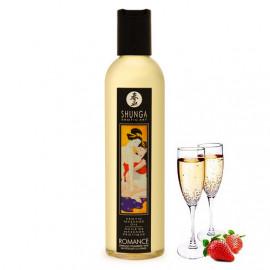 Shunga Erotic Massage Oil Romance - Šampanské a jahody 250ml