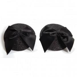 Bijoux Indiscrets Burlesque Pasties Bow Čierna - Ozdoby na bradavky