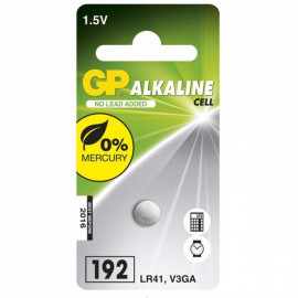 Batéria alkalická gombíková GP LR41 1,5V 1ks