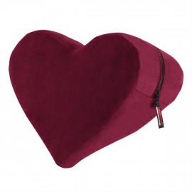 Liberator Heart Wedge Merlot - Erotická podložka pre milovanie v tvare srdca Červená