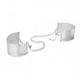 Bijoux Indiscrets Desir Metallique Mesh Handcuffs Silver - Kovová ozdobná putá Strieborná