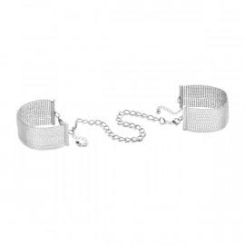 Bijoux Indiscrets Magnifique Metallique Chain Handcuffs Silver - Kovová ozdobná putá Strieborná