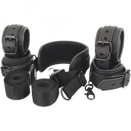 Fetish Submissive Neck, Handcuffs & Anklecuffs Vegan Leather