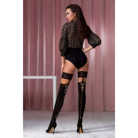 Passion ST117 Stockings 60/20 Den Nero-Gold