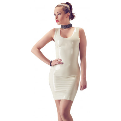 LateX Latex Mini Dress White
