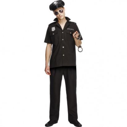 Fever Cop Costume 31876 Čierna