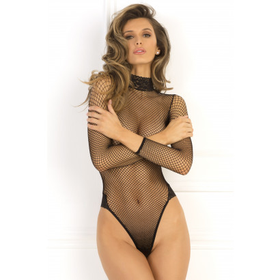 René Rofé High Demand Bodysuit Čierna